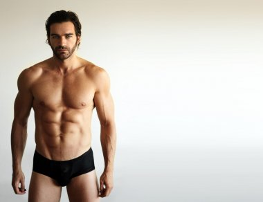 Sexy male fitness model