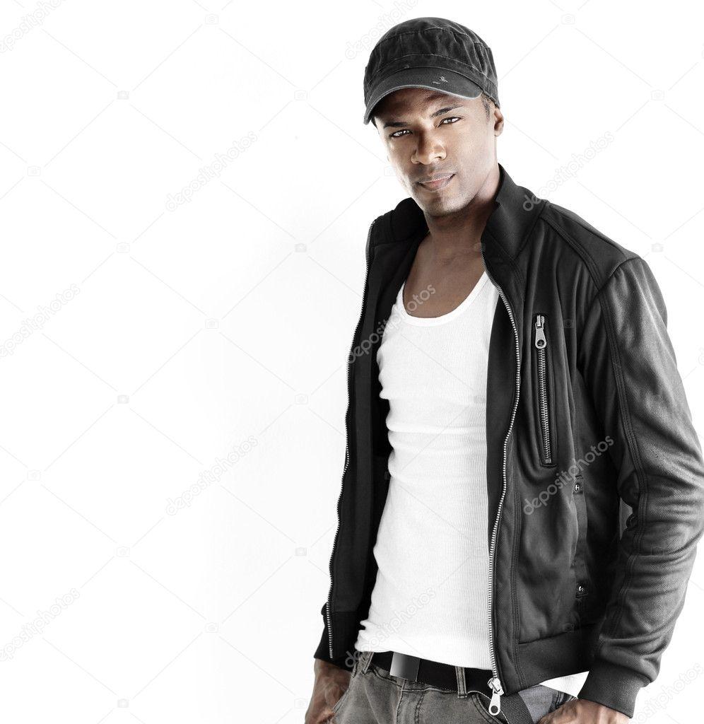 Black male fashion model