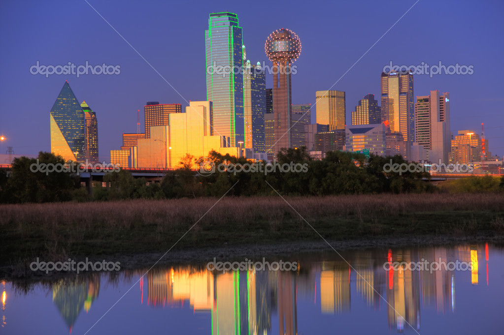 Dallas, TX Skyline at Dusk