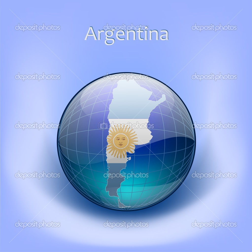 Map Of Argentina In The Globe Map Of Argentina In The Globe - Argentina globe map