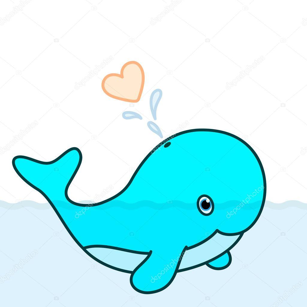 Cute Whale Calf