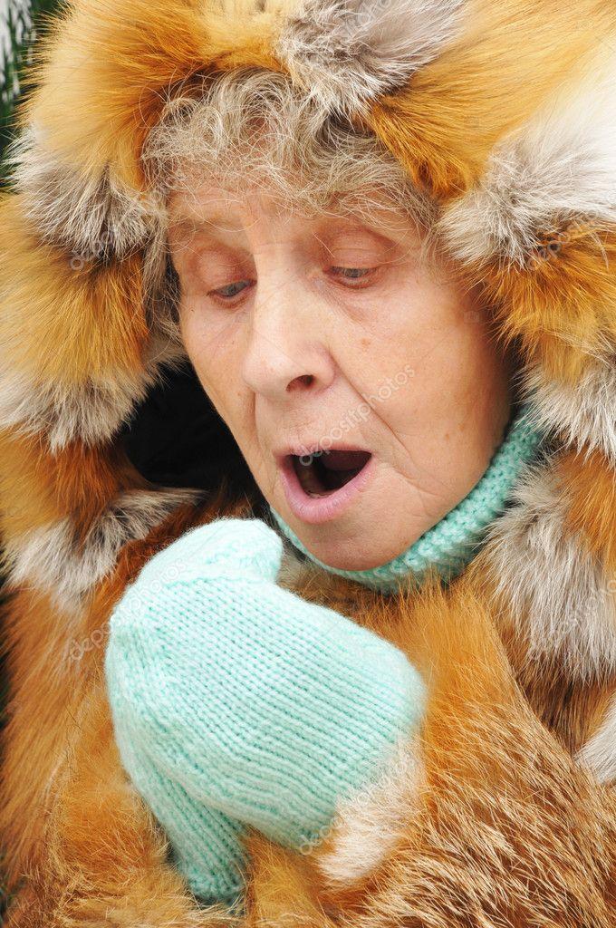 Großeltern geben Blasen