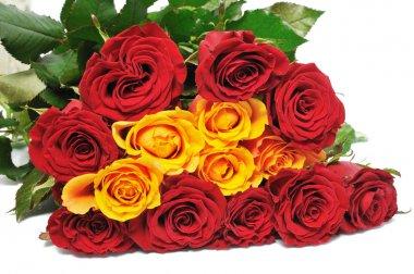 Big bouquet pretty roses