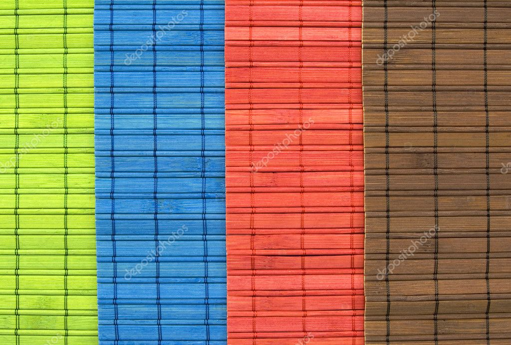 Green, Blue, Red And Brown Bamboo Table Cloth U2014 Photo By Ocphoto