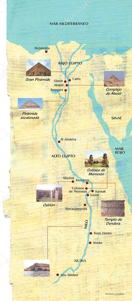 Karte Von ägypten.Karte Von ägypten Stockfoto Ocphoto 8447307