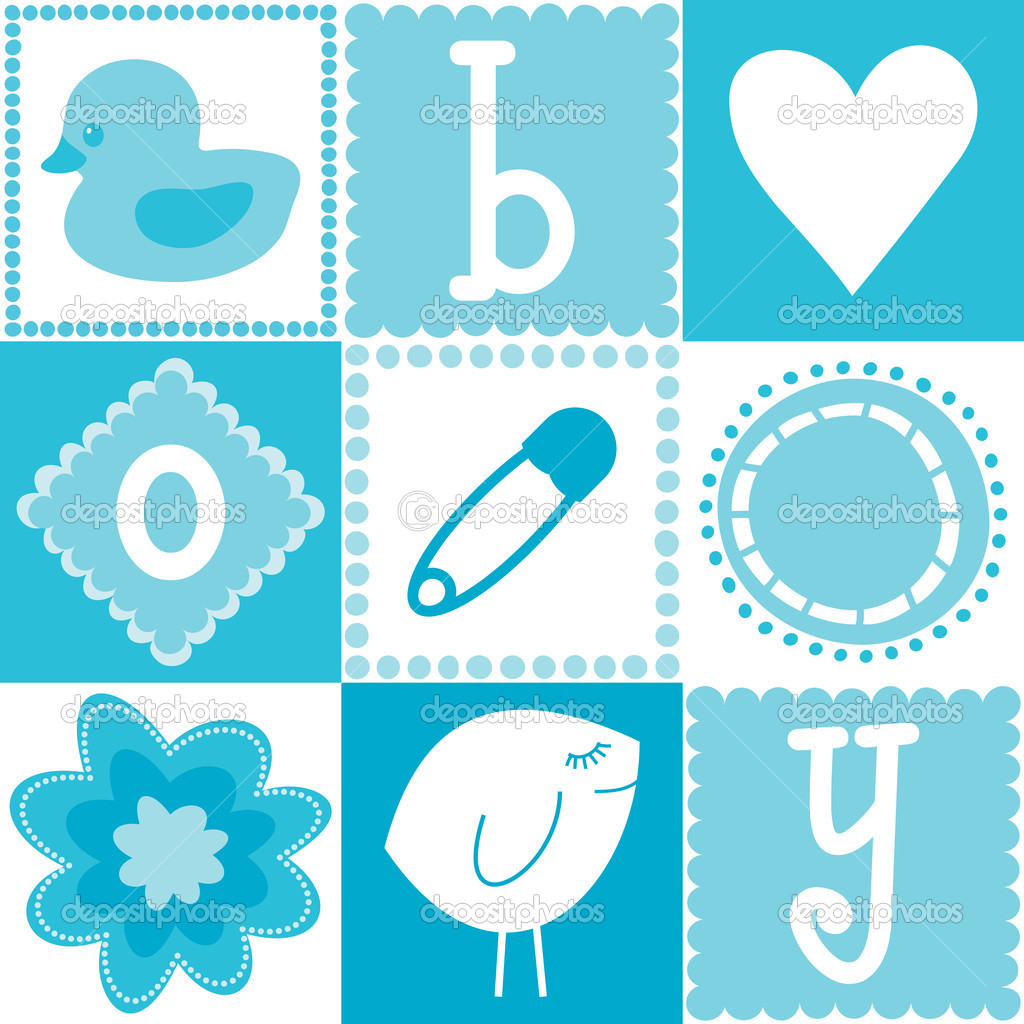 Seamless baby boy background stock vector bellasloft 8604298 seamless baby boy background stock vector voltagebd Image collections