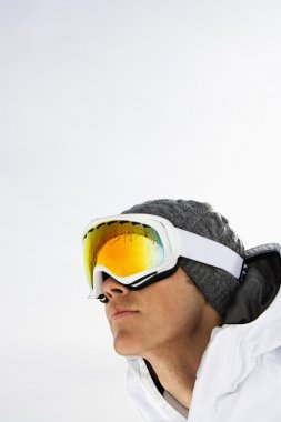 Close-up Portrait of Male Skier