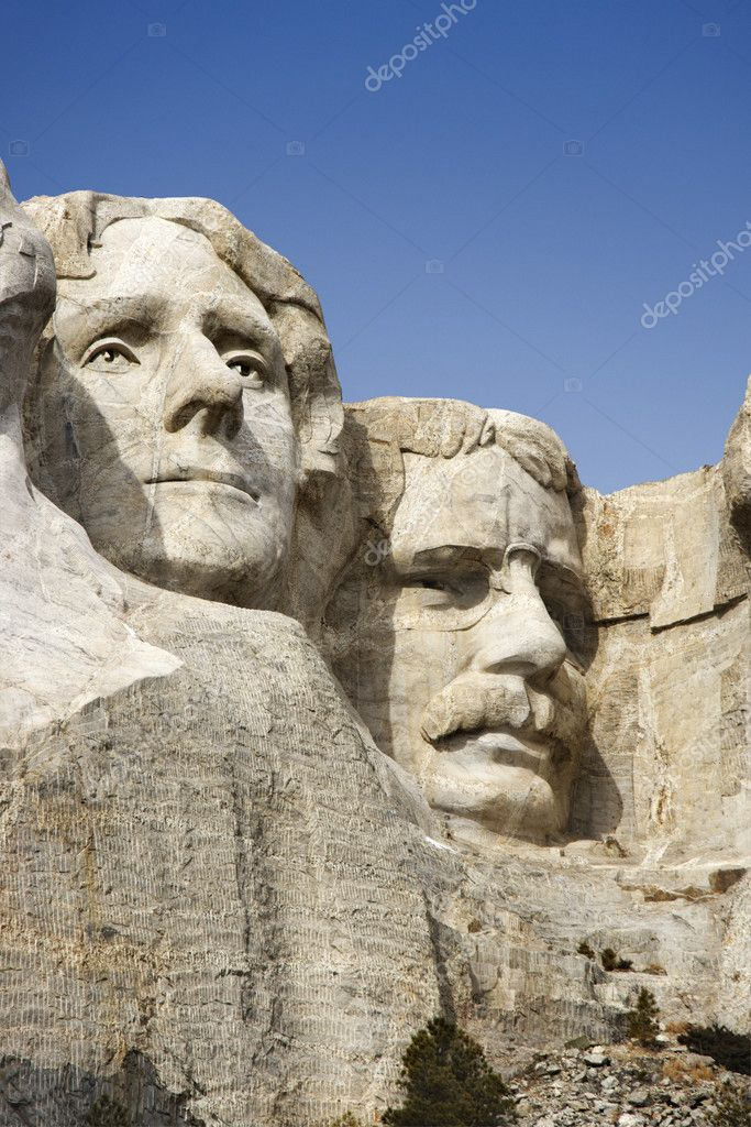 Faces at Mount Rushmore.