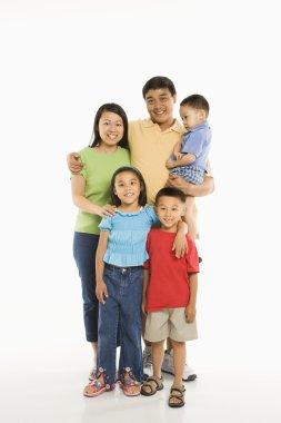 Happy Asian family.