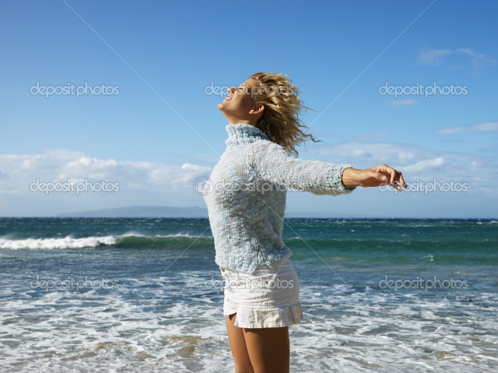 Woman enjoying freedom