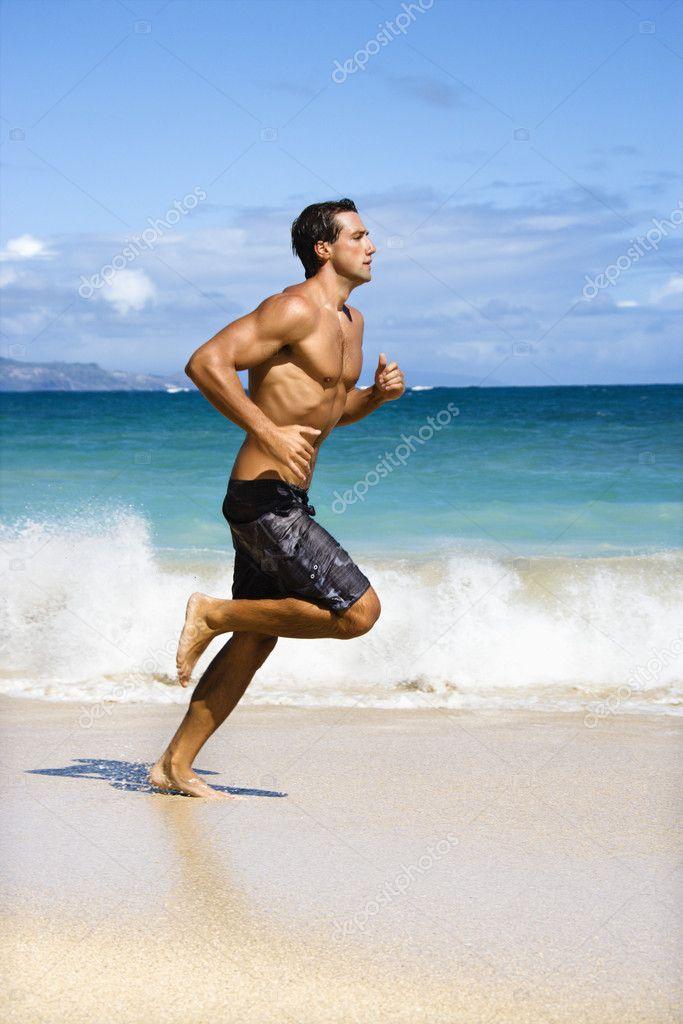 Man running.