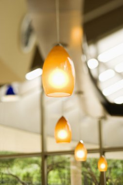 Row of Hanging Lights
