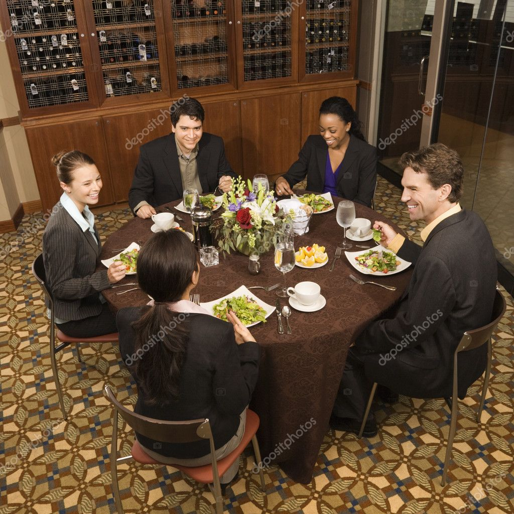 Stock Photo Businesspeople Eating