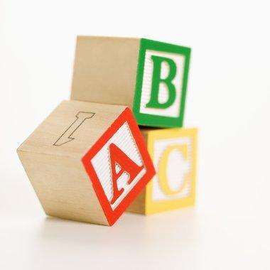 Toy blocks.