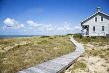 Beachfront house.