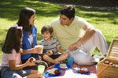 családi piknik.
