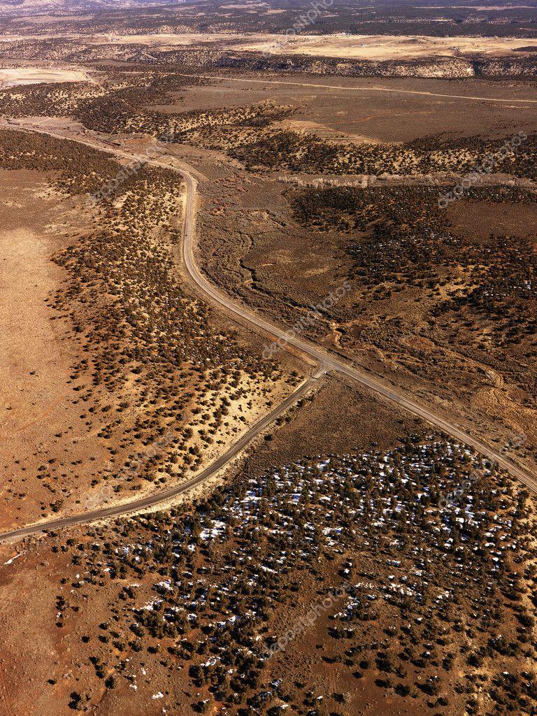 Roads Through a Desert Landscape