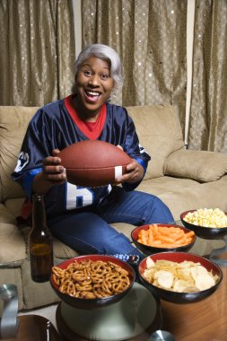 Woman football fan.