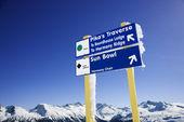 Fotografie Ski Resort Trail Zeichen