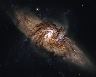 Spiral galaxy in outer space.