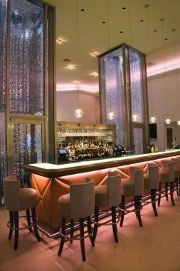 Interior of Elegant Cocktail Bar