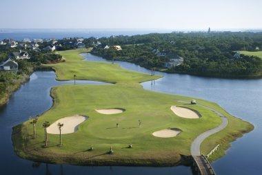 Coastal golf course.