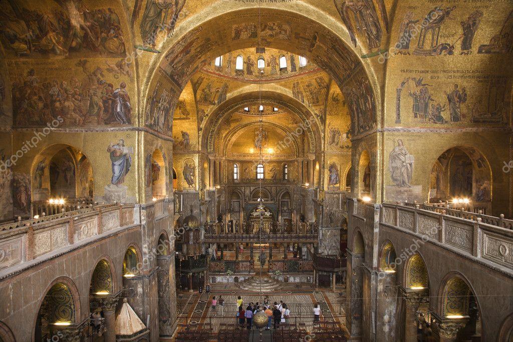 Interior of Cathedral at St Mark's Basilica