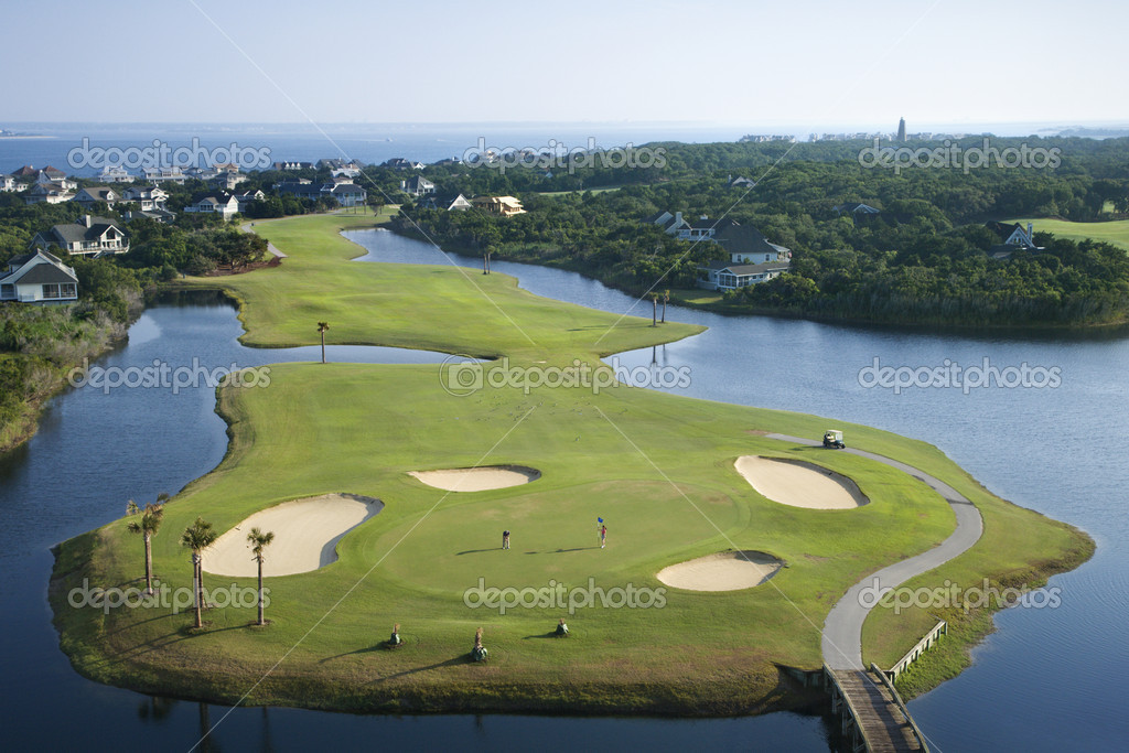 Coastal golf course.