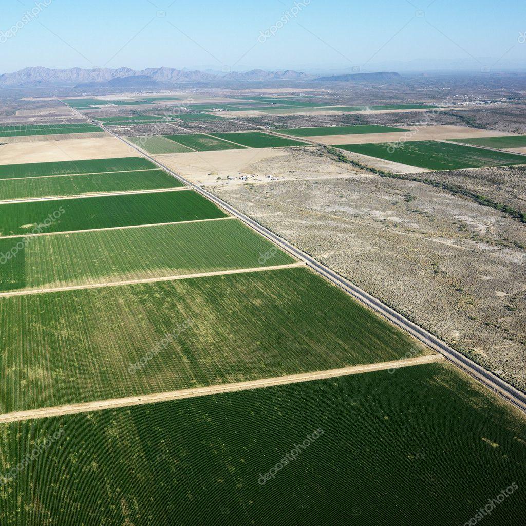 Farmland aerial.