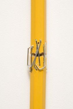 Stapled pencil.