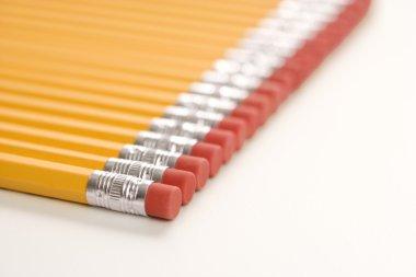 Row of pencils.