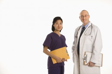 Man and woman doctors.