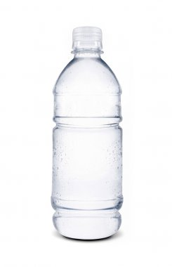 Small bottle of water isolated