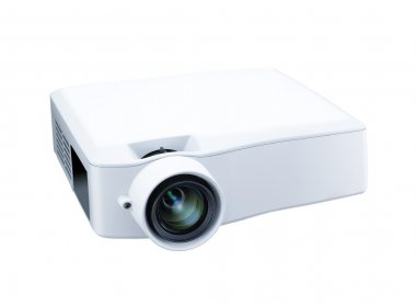 Switched-on multimedia projector on white