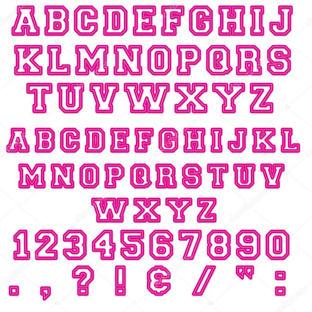 Pink Block Letters Numbers Stock Photo C Stayceeo 9890922