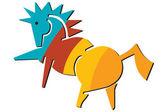 logo koně