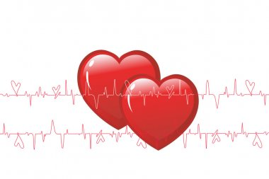 Illustration drawing of activity heart stock vector