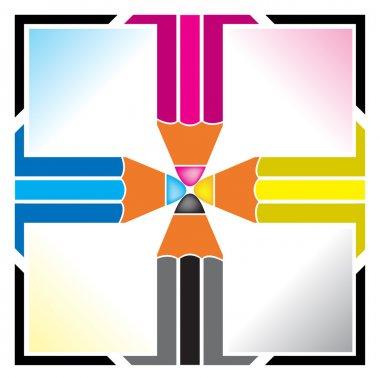 Cmyk pencil logo