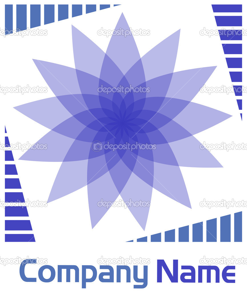 Violet flower logo