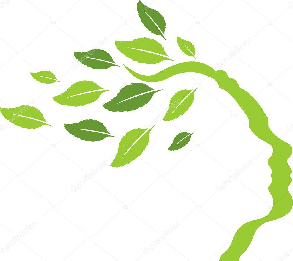 foto de Face Leaf logo Stock Vector © magagraphics #10157298