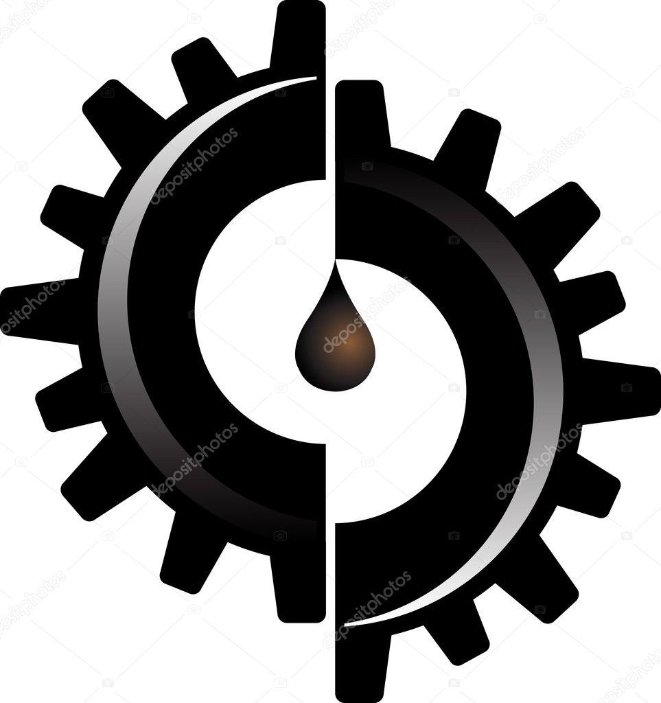 Gear oil logo
