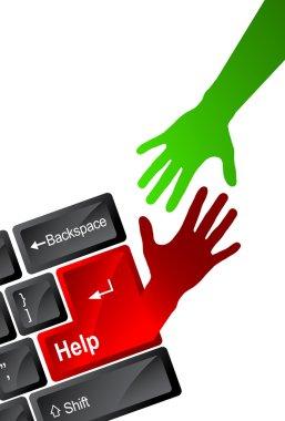 Technology help hand
