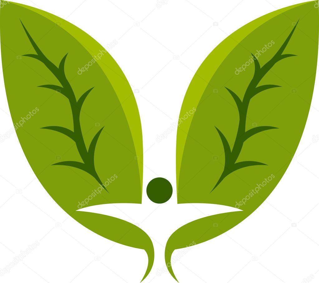 Leaf man logo