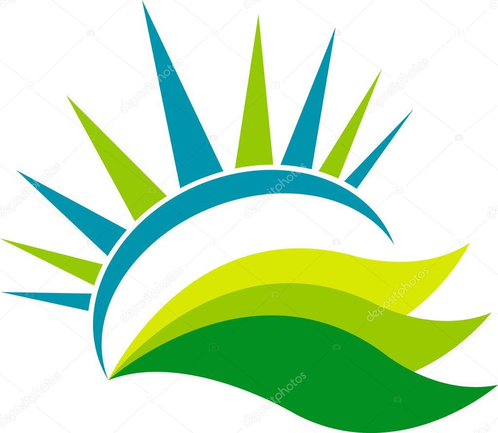 Summer leaf logo