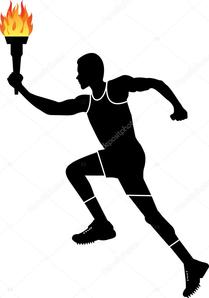 тот вид картинка спортсмен бежит с факелом оно скоро станет