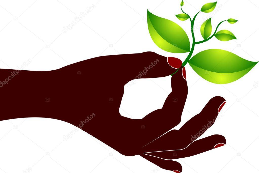 Hand leaf