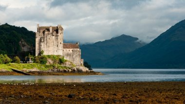 Eilean Donan castle, very popular landmark in Scotland