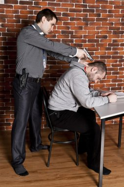 Police interrogated a suspect