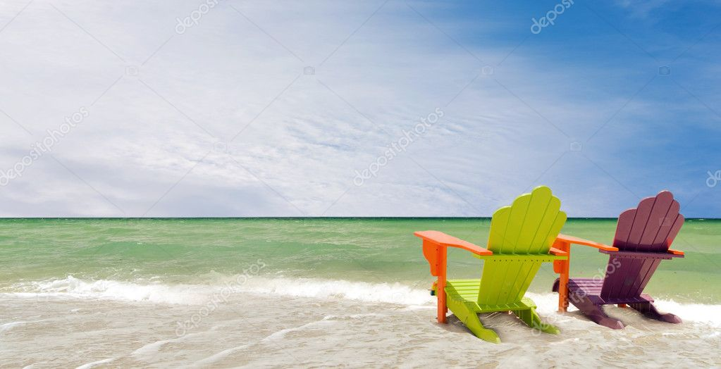 Miami Florida colorful panorama summer scene