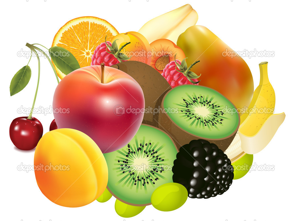Variety of Exotic fruits
